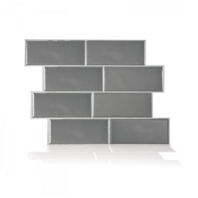 Metro Grigio Smart Tiles Peel & Stick Backsplash