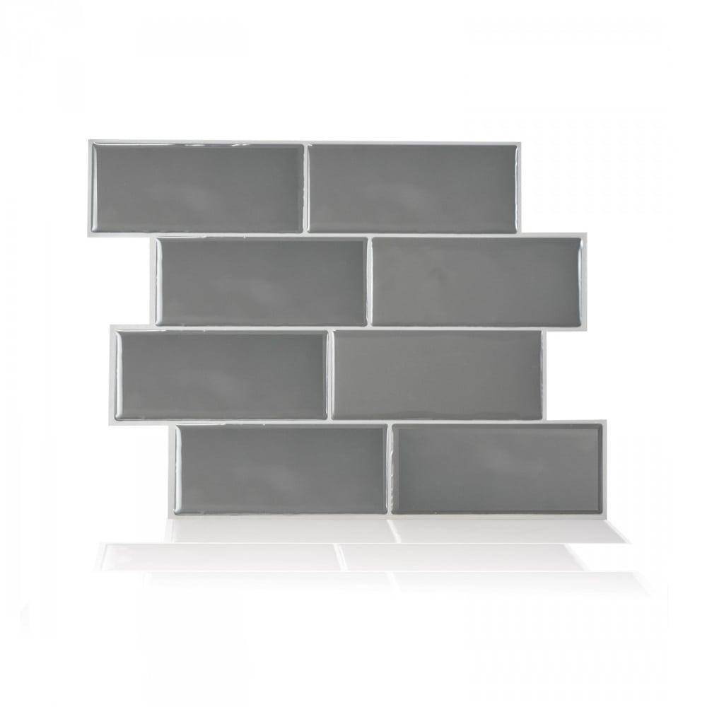 - Metro Grigio Peel & Stick Smart Tile Backsplash