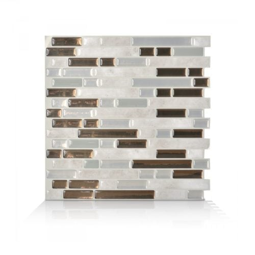 Bellagio Grigio Smart Tiles Peel & Stick Backsplash