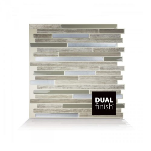 Capri Taupe Smart Tiles Peel & Stick Backsplash