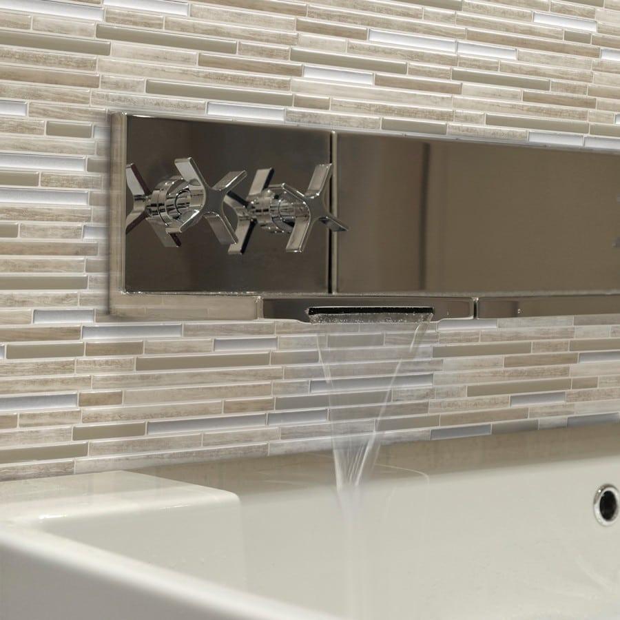 Capri Taupe Peel Stick Smart Tile Backsplash - Peel-and-stick-backsplash-tile-property