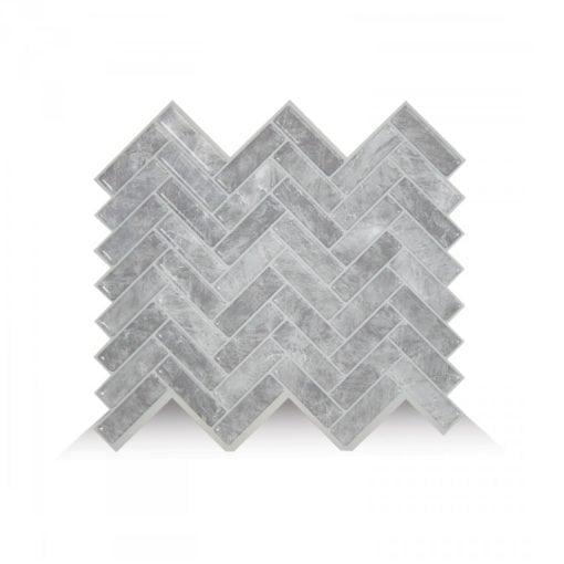 Cortina Grigio Smart Tiles Peel & Stick Backsplash