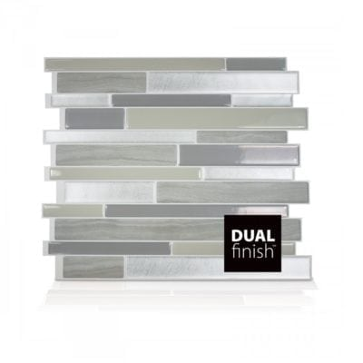 Milano Grigio Smart Tiles Peel & Stick Backsplash