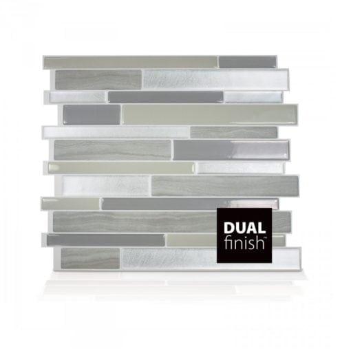 Milano Grigio Smart Tiles Peel & Stick Backsplash