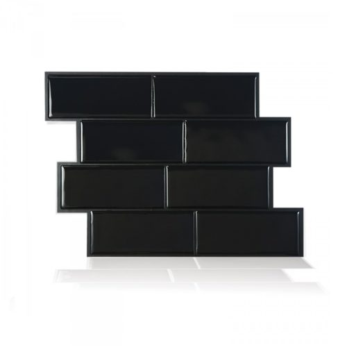 Metro Nero Smart Tiles Peel & Stick Backsplash