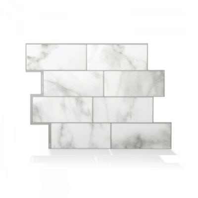 Metro Carrera Smart Tiles Peel & Stick Backsplash