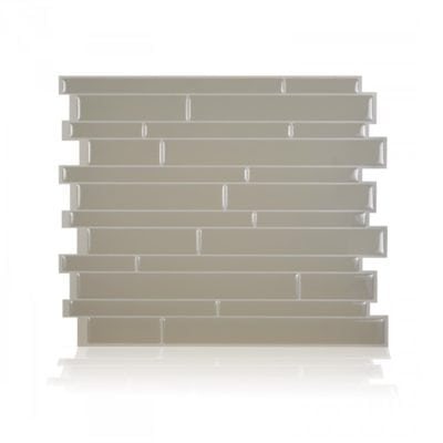 Milano Taupe Smart Tiles Peel & Stick Backsplash Tile