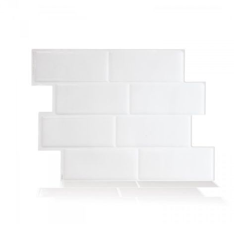 Metro Blanco Smart Tiles Peel & Stick Backsplash