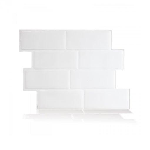 Metro Blanco Smart Tiles Peel & Stick Backsplash