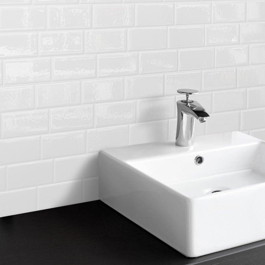 Metro Blanco Peel & Stick Smart Tiles Backsplash