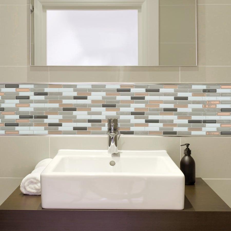 milenza andrea peel stick smart tiles backsplash. Black Bedroom Furniture Sets. Home Design Ideas