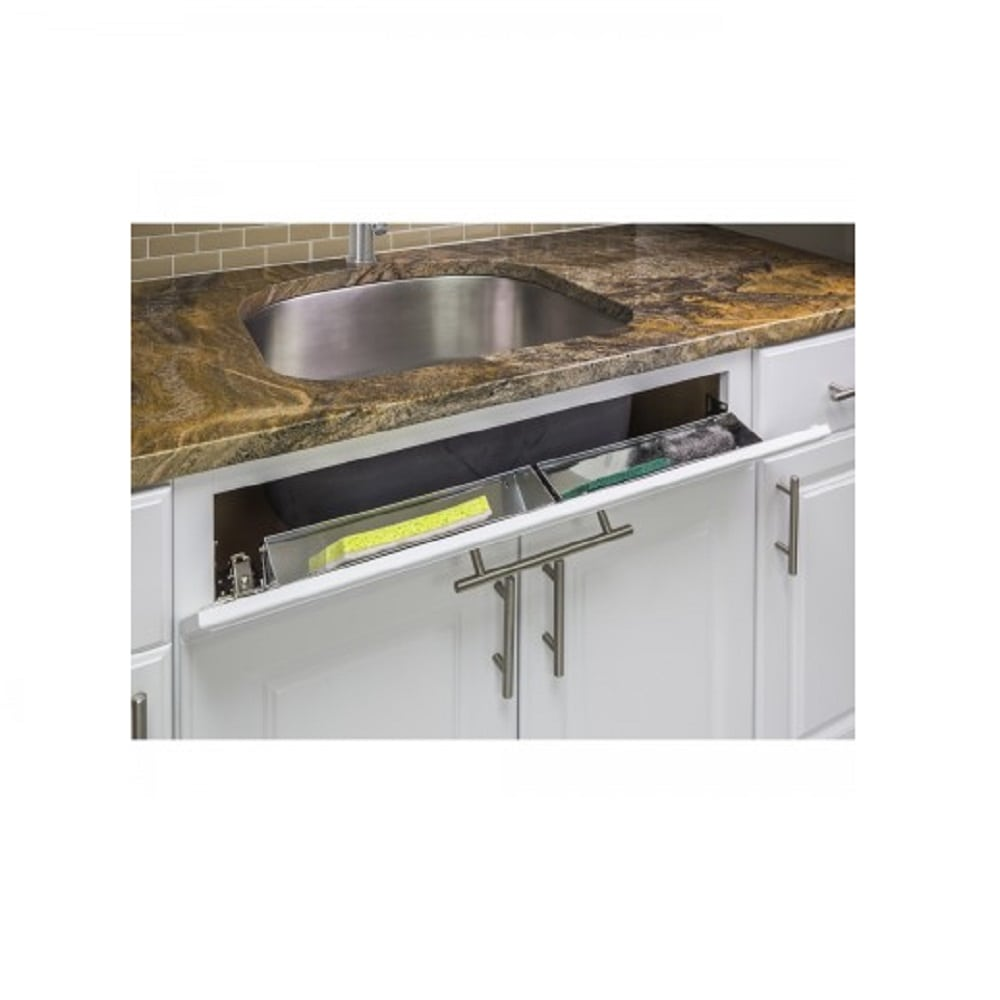 """2 Trays// 2 Sets of Hinges 11/""""-Shallow Sink Tip-Out Tray Pack"""